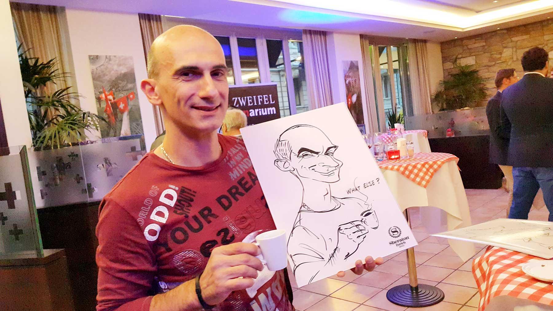 Karikaturist und Schnellzeichner für Zürich