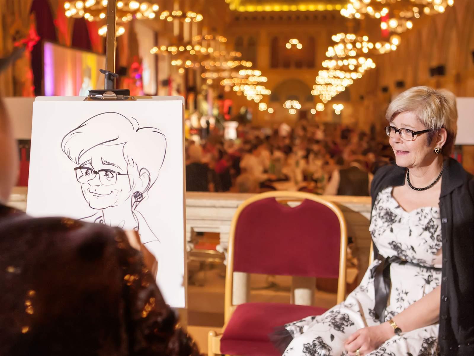 Karikaturist als Event Künstler für die Schweiz