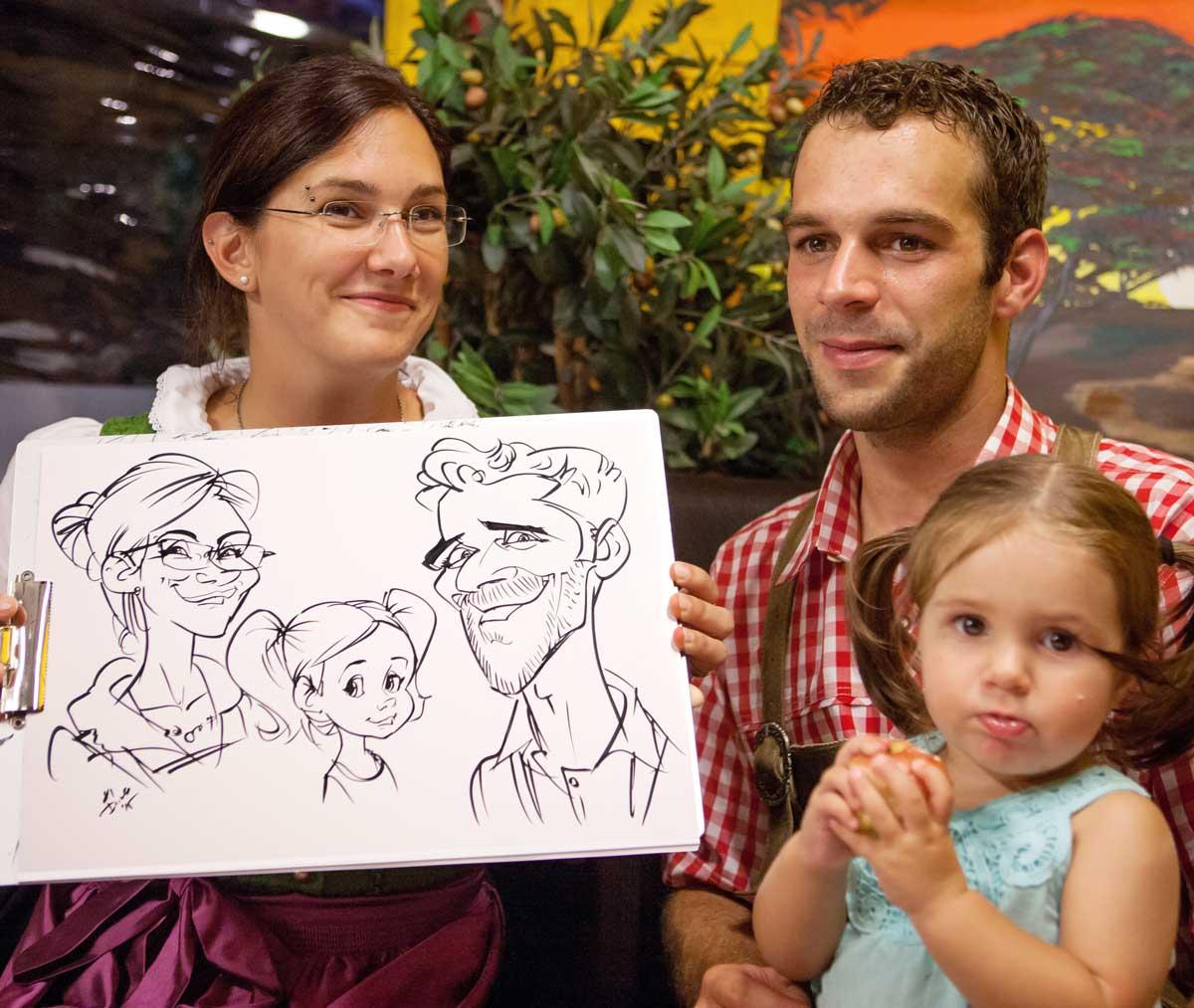 Karikaturist und Event Künstler für die Schweiz