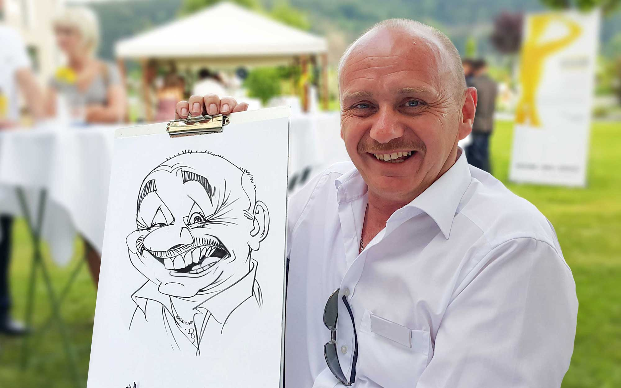 Karikaturist und Schnellzeichner für Basel